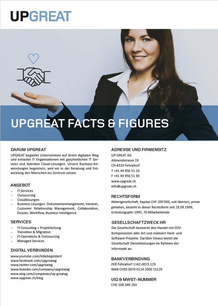 UPGREAT Facts & Figures