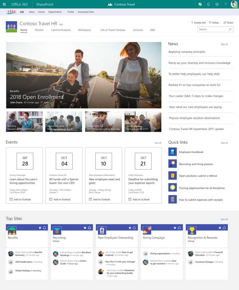 SharePoint 2019 Hub Site